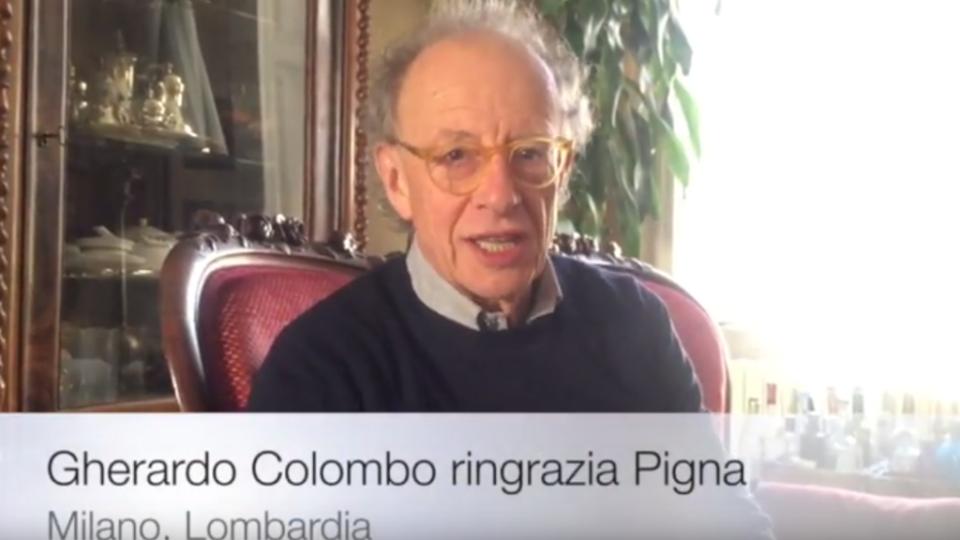 Gherardo Colombo ringrazia Pigna
