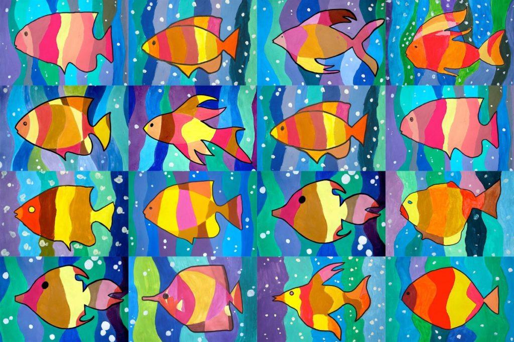 pesci arcobaleno con tempere – Copia